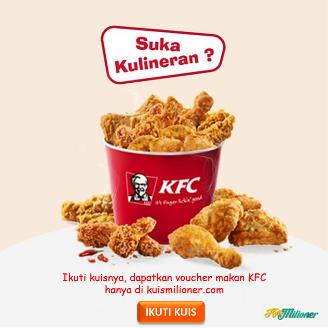 kuis berhadiah voucher makan KFC