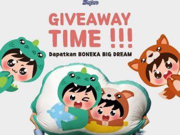 Giveaway Bantal Big Dream Dari Pokana Family