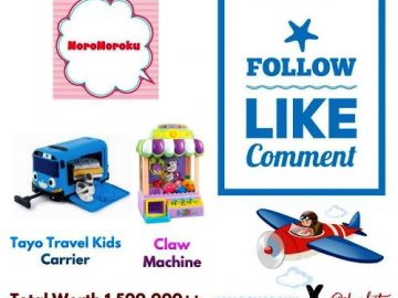 Ada Hadiah Tayo Travel Kids Carrir dan Cla Machine Dari Moromoroku