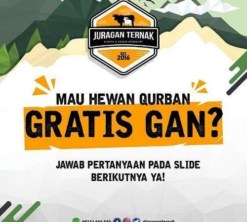 Juraganternak Bagi-bagi Hewan Qurban Gratis!!