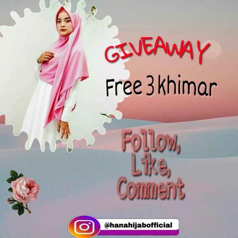 Giveaway Berhadiah Khimar Cantik Dari Hanahijabofficial