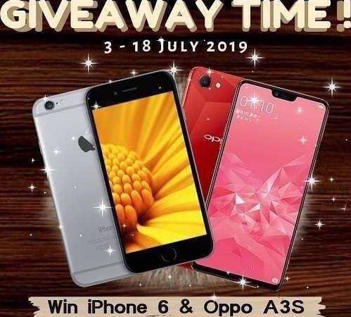 Giveaway Berhadiah IPHONE 6 & OPPO A3S Dari vsco.lpg