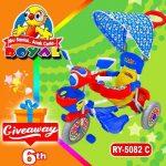 Yuk Ikutan Giveaway Yang Berhadiah Sepedah Bermodel Kereta Dari Royaltoys.id