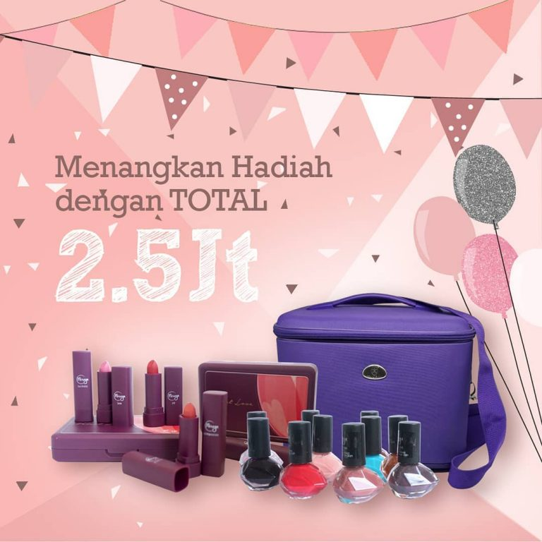 Ada Giveaway Berhadiah Tas Makeup Cantik dari Mireyacosmetics.official