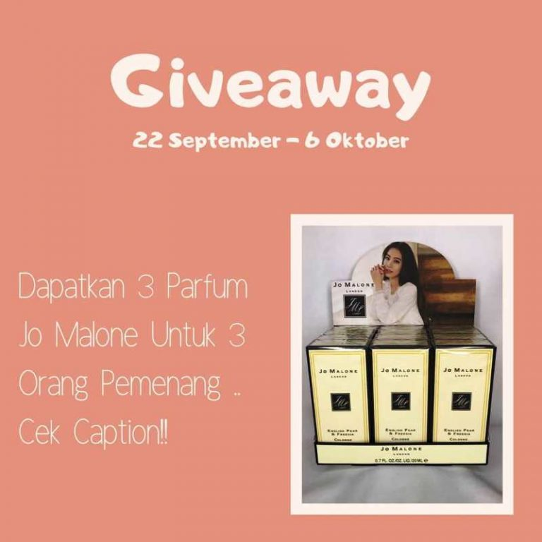 Yuk Ikutan Giveaway Berhadiah Parfum Jo Malone dari Parfum.bybebii