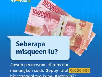 Giveaway Berhadiah Uang dari Wokedotid