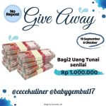 Yuk Ikutan Giveaway Berhadiah Uang 1 Juta dari Babygembul17