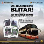Yuk Jelajahi Kota Blitar Dapatkan 100 Tiket Bus Gratis!! dari Unitedtractorsofficial