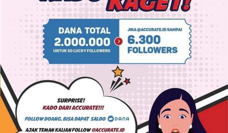 [Giveaway] Rebut Dana Total Hadiah 2 JUTA RUPIAH dari accurate.id