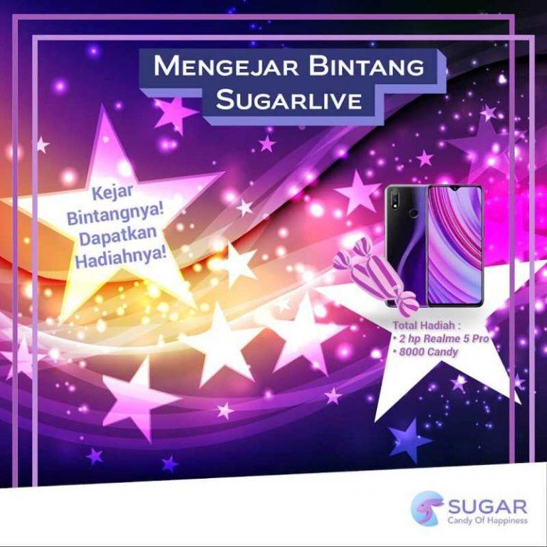 Event Mengejar Bintang Sugarlive yang berhadiah HP Realme 5 Pro 8/128