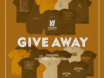 Ada 10 pcs Tshirt Gratis dari Wolfreak.ind Untuk Kalian!!