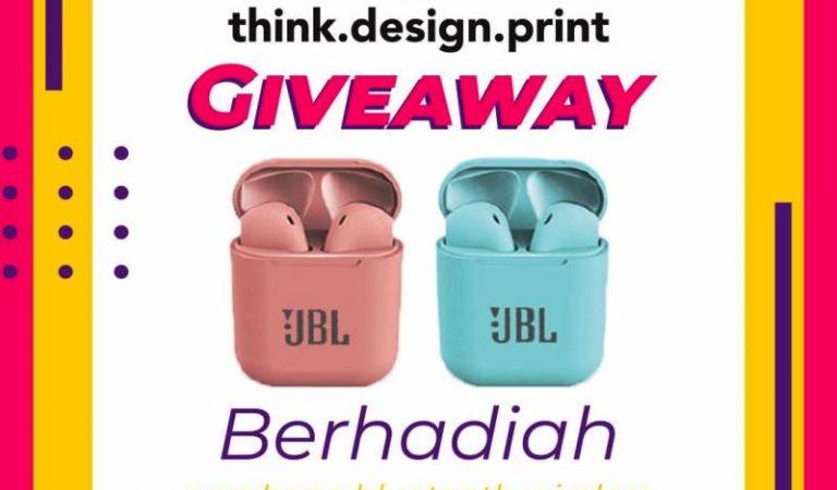 Yuk Ikutan Giveaway Berhadiah Eraphone bluetooth wirless dari Thinkdesignprint