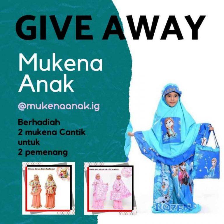 Giveaway Berhadiah Mukena Anak Cantik dari Mukenaanak