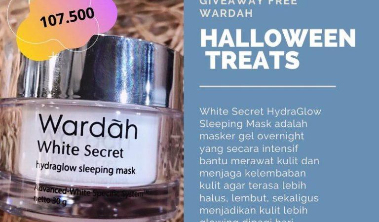 Ada Wardah White Secret Hydraglow Sleeping Mask Gratis dari Alomama