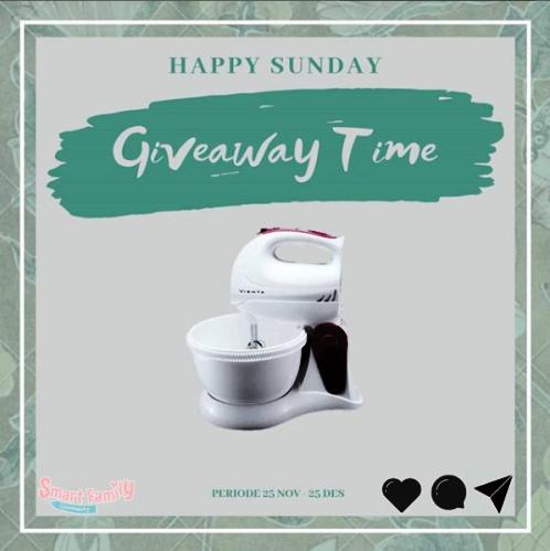 Giveaway Berhadiah Mixer dari Smart Family