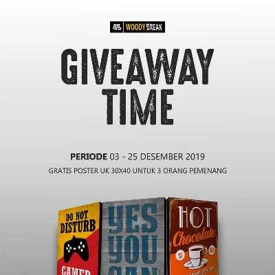 Yuk Ikutan Giveaway dari Woody Break, Berhadiahkan 1 Poster Gratis!!