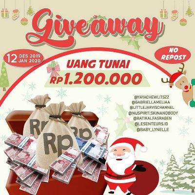 Giveaway Berhadiah Uang Tunai Rp.1.200.000 dari Gabriellameliaa